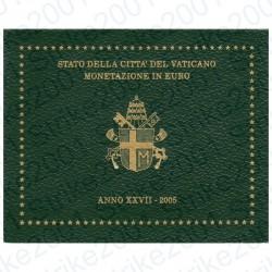 Vaticano - Divisionale Ufficiale 2005 FDC