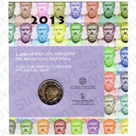Grecia - 2€ Comm. 2013 FDC Platone in Folder