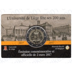 Belgio - 2€ Comm. 2017 FDC Università Liegi (Francia) in Folder
