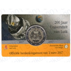 Belgio - 2€ Comm. 2017 FDC Università Liegi (Olanda) in Folder