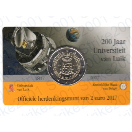 Belgio - 2€ Comm. 2017 FDC Università Liegi (Olanda) in Folder