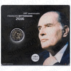 Francia - 2€ Comm. 2016 FDC François Mitterrand in Folder