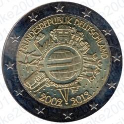 Germania - 2€ Comm. 2012 FDC 10° Anniversario Euro