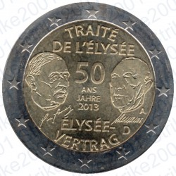 Germania - 2€ Comm. 2013 FDC Trattato Eliseo