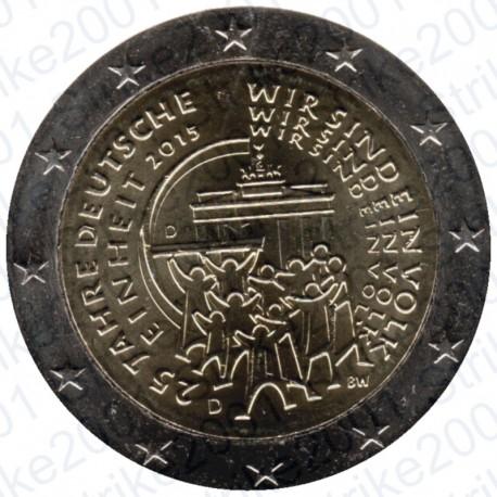 Germania - 2€ Comm. 2015 FDC Riunificazione