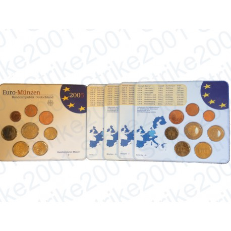 Germania - Divisionale Ufficiale A-D-F-G-J 2005 FDC