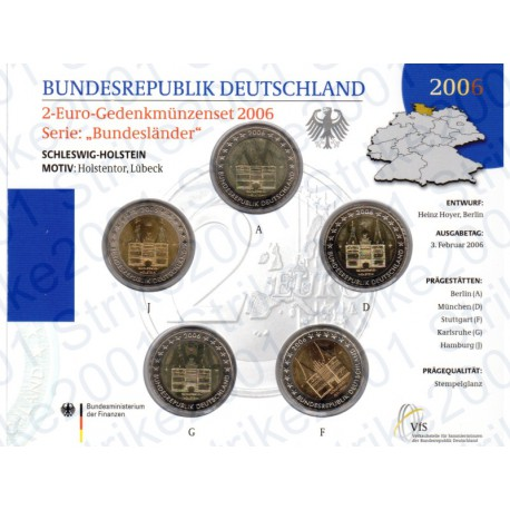 Germania - 2€ Comm. 5 Zecche 2006 FOLDER FDC