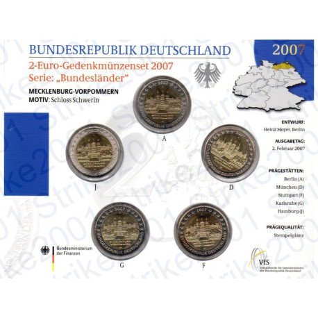 Germania - 2€ Comm. 5 Zecche 2007 FOLDER FDC