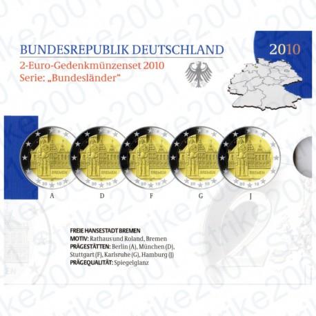 Germania - 2€ Comm. 5 Zecche 2010 FOLDER FS
