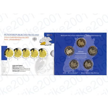 Germania - 2€ Comm. 5 Zecche 2013 FOLDER FS Monastero Maulbronn