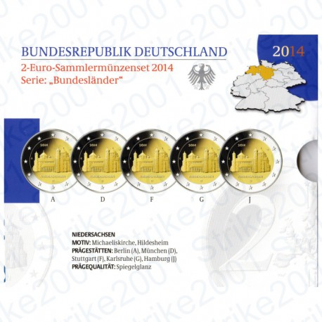 Germania - 2€ Comm. 5 Zecche 2014 FOLDER FS San Michele
