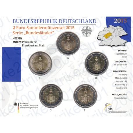 Germania - 2€ Comm. 5 Zecche 2015 FOLDER FDC San Paolo