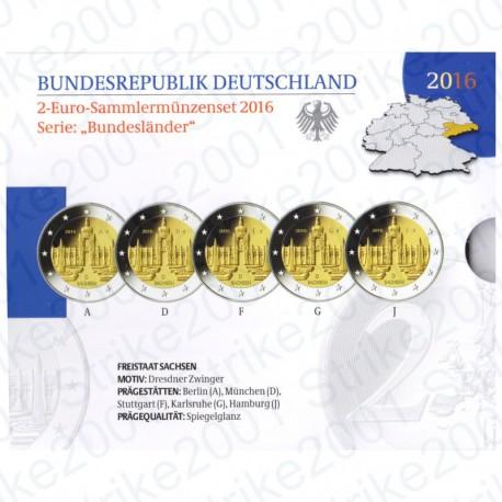 Germania - 2€ Comm. 5 Zecche 2016 FOLDER FS Zwinger - Dresda