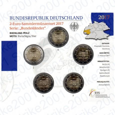 Germania - 2€ Comm. 5 Zecche 2017 FOLDER FDC Porta Nigra di Treviri