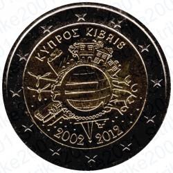 Cipro - 2€ Comm. 2012 FDC 10° Anniversario Euro