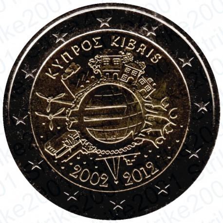 Cipro - 2€ Comm. 2012 10° Anniversario FDC
