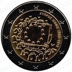 Cipro - 2€ Comm. 2015 FDC 30° Bandiera Europea