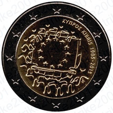 Cipro - 2€ Comm. 2015 30° Bandiera Europea FDC