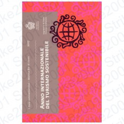 San Marino - 2€ Comm. 2017 FDC Turismo Sostenibile in Folder
