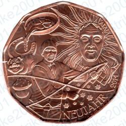 Austria - 5€ Rame 2014 FDC Nuovo Anno