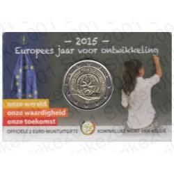 Belgio - 2€ Comm. 2015 FDC Anno Sviluppo - Olanda in Folder