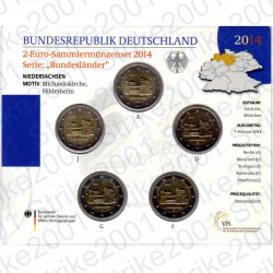 Germania - 2€ Comm. 5 Zecche 2014 FOLDER FDC San Michele