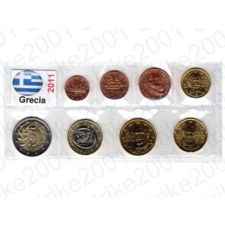 Grecia - Blister 2011 FDC 2 Euro Comm