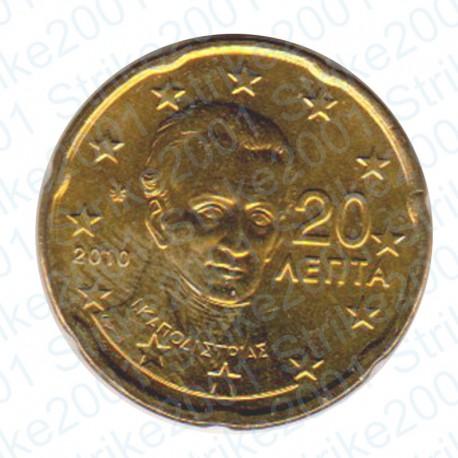 Grecia 2010 - 20 Cent. FDC