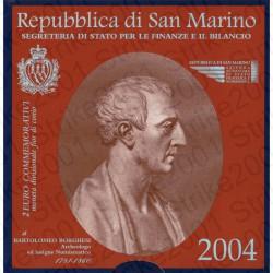San Marino - 2€ Comm. 2004 FDC Bartolomeo Borghesi in Folder