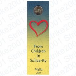 Malta - 2€ Comm. 2016 Solidarietà e Amore Cornucopia in Folder