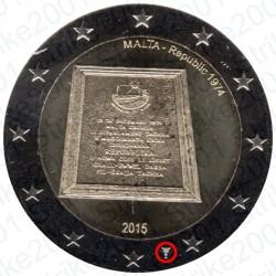 Malta - 2€ Comm. 2015 FDC Proclamazione Repubblica - Zecca Olanda