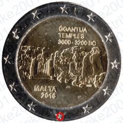 Malta - 2€ Comm. 2016 FDC Ggantija - Zecca Francia