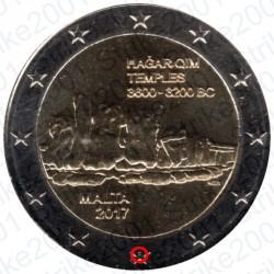 Malta - 2€ Comm. 2017 FDC Templi Hagar Qim - Zecca Francia