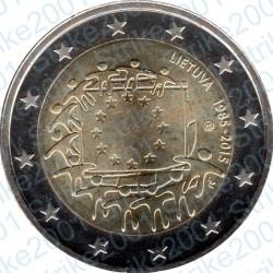 Lituania - 2€ Comm. 2015 FDC 30° Ann. Bandiera Europea