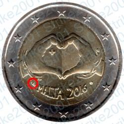 Malta - 2€ Comm. 2016 FDC Solidarietà e Amore - Cornucopia