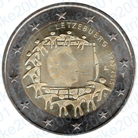 Lussemburgo - 2€ Comm. 2015 FDC Bandiera Europea
