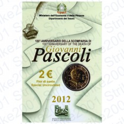 Italia - 2€ Comm. 2012 FDC Giovanni Pascoli in Folder