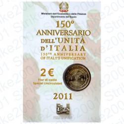 Italia - 2€ Comm. 2011 FDC Unità d' Italia in Folder