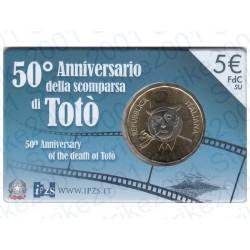 Italia - 5€ Comm. 2017 FDC 50° scomparsa di Totò in Folder