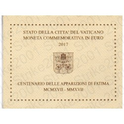 Vaticano - 2€ Comm. 2017 FDC Fatima in Folder