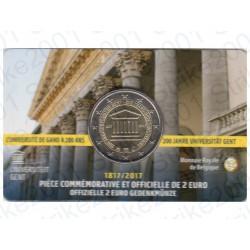 Belgio - 2€ Comm. 2017 FDC Università Gand (Francia) in Folder
