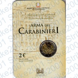 Italia - 2€ Comm. 2014 FDC Carabinieri in Folder