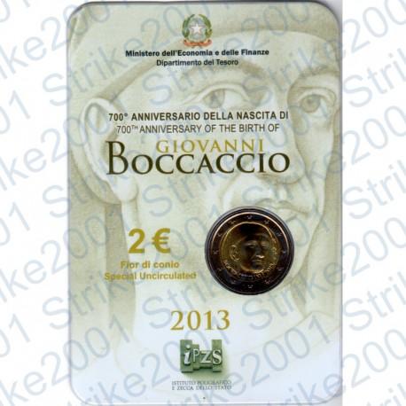 Italia - 2€ Comm. 2013 FDC Giovanni Boccaccio in Folder