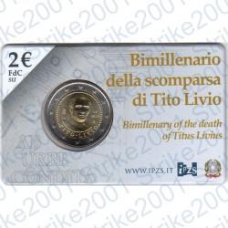 Italia - 2€ Comm. 2017 FDC Tito Livio in Folder
