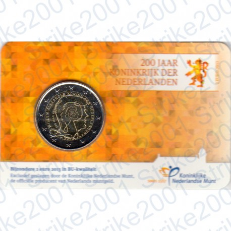 Olanda - 2€ Comm. 2013 FDC Guglielmo in Folder