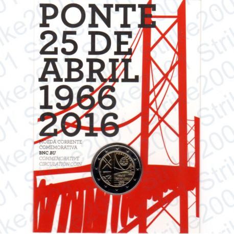 Portogallo - 2€ Comm. 2016 FDC Ponte in Folder