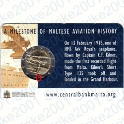 Malta - 2€ Comm. 2015 Zecca Olanda Primo Volo in Folder