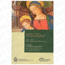 San Marino - 2€ Comm. 2013 FDC Pinturicchio in Folder