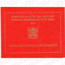 Vaticano - 2€ Comm. 2015 FDC Incontro Famiglie Philadelphia in Folder