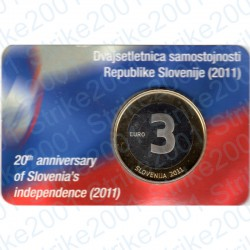Slovenia - 3€ 2011 FDC Anniversario Indipendenza in Folder